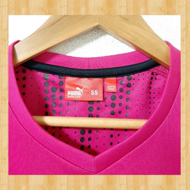 PUMA プーマ スポーツウェア Tシャツ SS XS ジャージ ピンク < ブランドの
