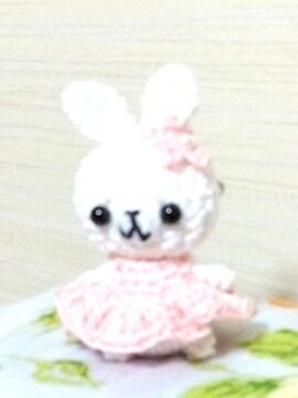 うさちゃん☆あみぐるみブローチ