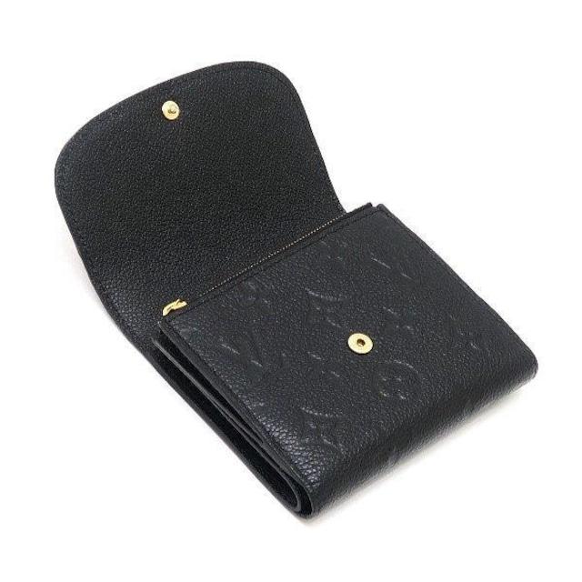 本物程度良◆ヴィトン モノグラムアンプラント黒 コンパクト財布 < ブランドの