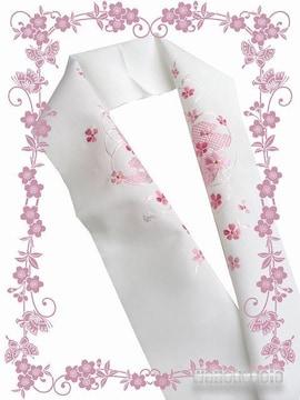 【和の志】洗える着物に◇刺繍半衿◇白系・鼓・小花◇PSH-65