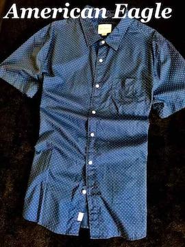 【アメリカンイーグル】カジュアルシャツ US-XL (XXL相当)/Blue