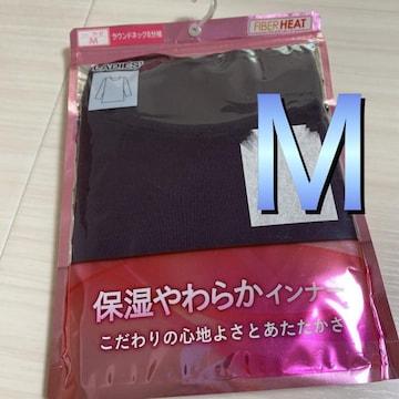 新品未開封M長袖下着肌着 ヒートテック風ファイバーヒート紫2-1