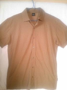 イタリー製 ヒューゴ・ボス 高級綿 シャツ