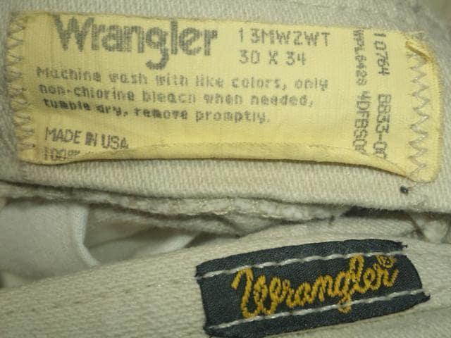 #USA製¶Wrangler[ラングラー]★#13MWZWT.ホワイトデニムパンツ76cm/送料込み < ブランドの