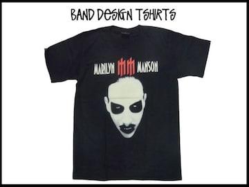 新品 Marilyn Mansonマリリンマンソン バンドデザインT 【M】