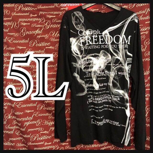 5L・スモークロゴVネックロンT新品/MCG-012  < 男性ファッションの