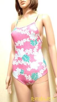 エルエーディ☆可愛いピンクお花柄の水着5177☆3点で即落