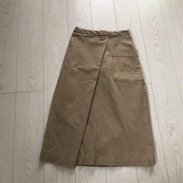 無印良品ロンスカ着丈80ウエストゴム平置き36ロングスカート