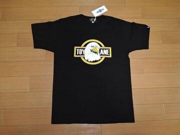 新品TOY PLANEトイプレーンTシャツS黒イーグルロゴコンドル