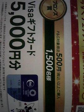 Visaギフトカード5000円当たる!1500名