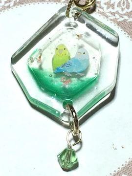 レジン ストラップ ハンドメイド セキセイインコ 小鳥