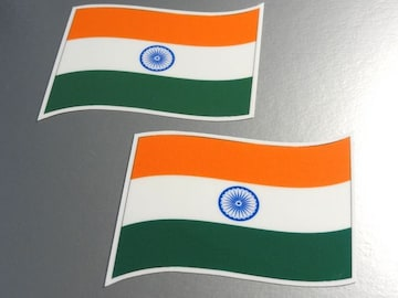 w2 インド国旗ステッカー 2枚set☆シール即買