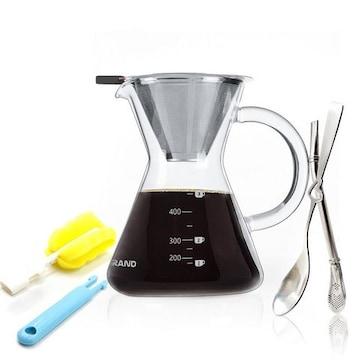 コーヒーカラフェセット ドリップポット (400ML)