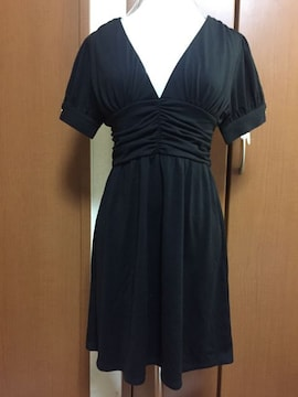 美品♪大人気☆オゾック ミニワンピース 半袖ブラック