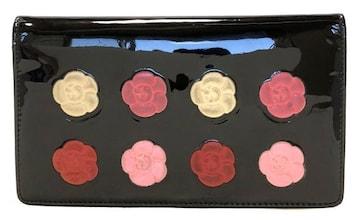 正規シャネル財布二つ折りメイクパレットココマークファスナー