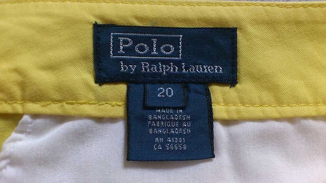 訳あり激安85%オフ、ラルフローレン、チノパン(美品、黄、30〜31) < 男性ファッションの
