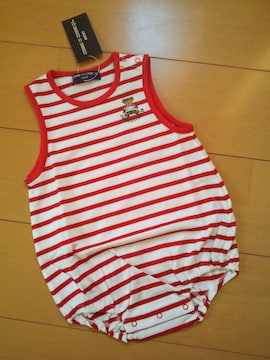 新品袖無コンビオール70赤ストライプ☆ベビーグンゼGUNZEコムサ