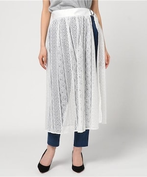 MURUA ラップレーススカート ホワイト