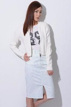 即完売★EGOIST エゴイスト★デザインポケットZIPカーデ ホワイト/F 新品タグ付