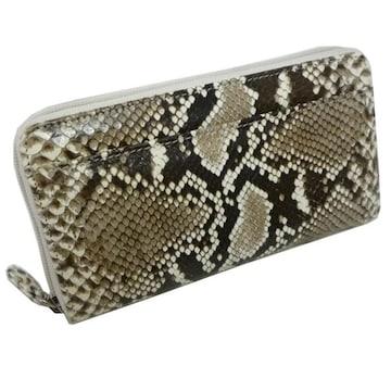 パイソンレディース財布蛇革艶有 ラウンドファスナーT4510-PYSB