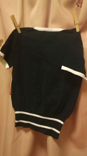 コムサイズム綿ニット半袖ニットシャツロゴ110 < ブランドの