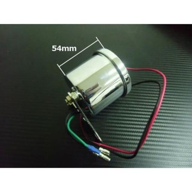 送料無料!フルLED!電気式タコメーター/φ60mm/4サイクル用回転計 < 自動車/バイク