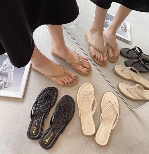 Y201即決 新品 トング サンダル 黒 24.5 エスペランサ ダイアナ 好きに < 女性ファッションの