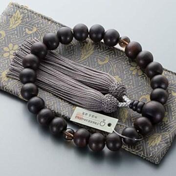 色高級ファスナー式数珠袋付き 滝田商店ブランド 数珠 男性用 縞