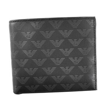 ★エンポリオアルマーニ 2つ折財布(BK)『YEM122 YTO2J』★新品本物★