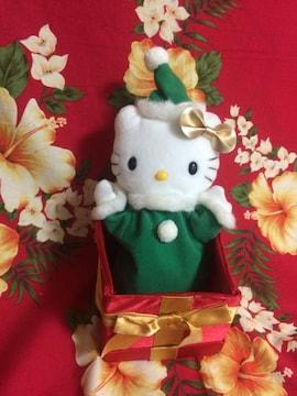 新品未使用☆キティちゃんぬいぐるみ☆クリスマスパペット☆