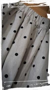 *SM2* リネンコットン ドット柄ロングスカート F 新品
