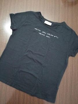 ザラ ZARA ロゴ Tシャツ ブラック 黒