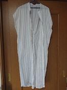 新品 白ストライプ ロングシャツ