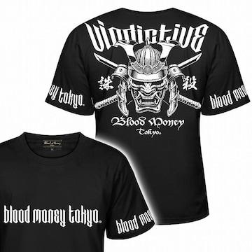 XL 半袖 Tシャツ 和柄 鎧武者 侍 武士 黒白 メンズ 派手 服 21003