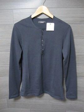 ☆ZARA/ザラ 6B切り放し加工 長袖Tシャツ/メンズ・S/ネイビー☆新品