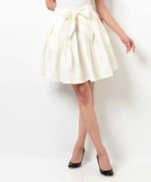 新品DazzliN'ウエストリボンボリュームスカート