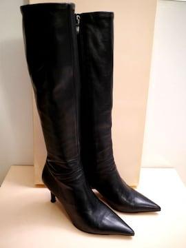 ◆REBECCA TAYLOR レベッカテイラー レザー ロング ブーツ