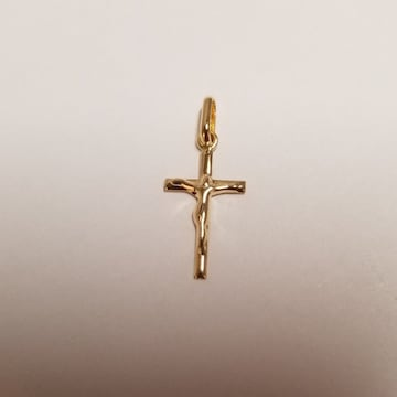 新品☆K18(18金) 十字架デザインペンダントトップ小