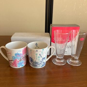 マグカップ2個&グラスカップ2個 未使用