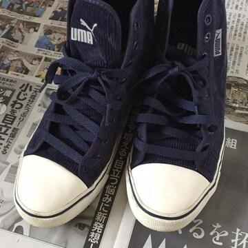 PUMA☆スウェードスニーカー☆紺☆青☆靴☆23.5cm