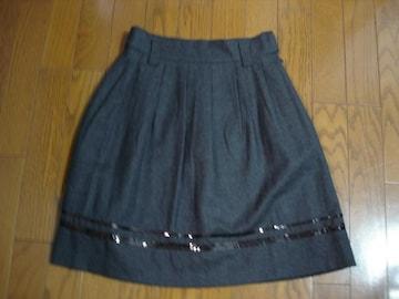 anysisblac エニィシィス 裾デザインウールスカート