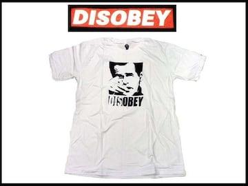 disobey streetウェア T−シャツ NS-67 【白-L】