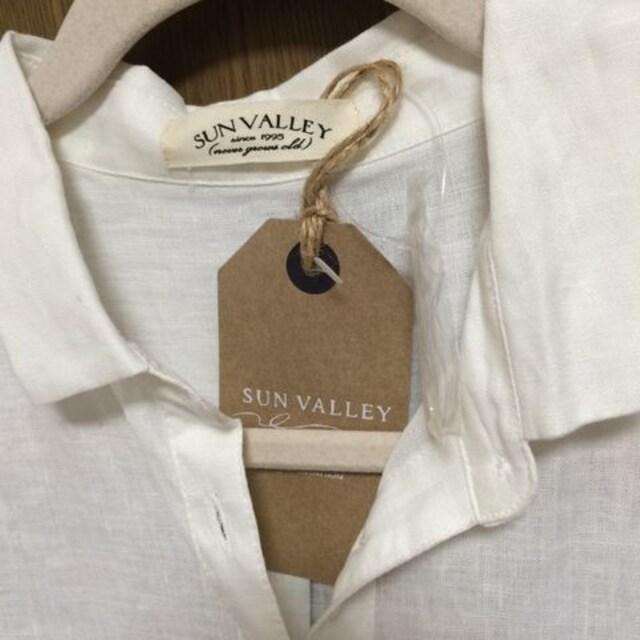 ЯЩ】�@新品サンバレー 麻シャツ 着丈67 < 女性ファッションの