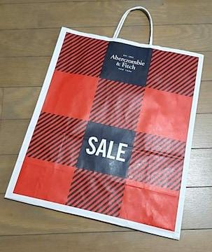 【アバクロ★ショップ袋】USA♪ギフト♪プレゼント♪誕生日♪赤