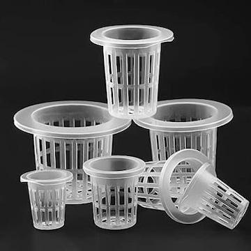 50個入り 水耕栽培 プラスチック ポット 鉢 ネット ガーデン 植