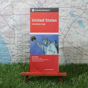 新品【輸入地図】アメリカ合衆国 Interstate Map