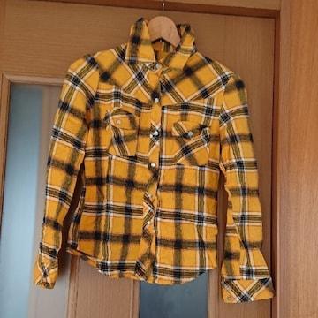【値下げ不可】Panpkin イエロー チェックシャツ  M