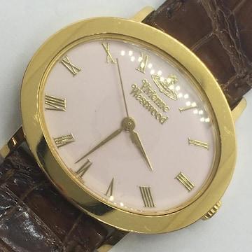 ヴィヴィアンウエストウッド レディース 腕時計 ピンク/金 良品