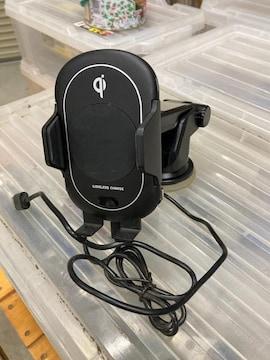スマホQI充電自動開閉ホルダー