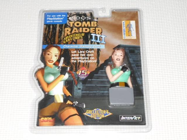 PS★TOME RAIDER 3 Character Memory Card 海外版  < ゲーム本体/ソフトの